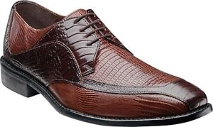 Image is loading Mens-Stacy-Adams-Dress-Shoes-Genoa-24937-Brown-