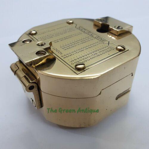 Antique Brass Brunton Compass Maritime Collectible