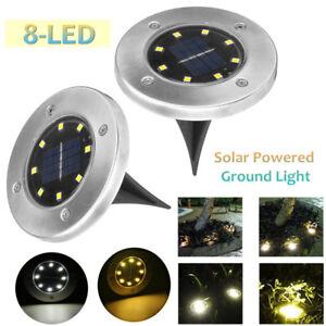 Solar-8-LED-Exterior-Camino-De-La-Luz-Spot-Lampara-Patio-Jardin-Cesped-Paisaje