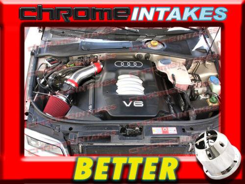 CF RED 02 03 04 05//2002 2003 2004 2005 AUDI A4 A6 A 4//6 3.0L V6 AIR INTAKE KIT