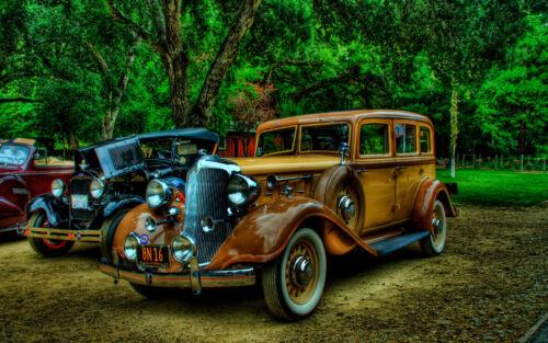 "Poster 19/"" x 13/"" Old Cars Vintage"