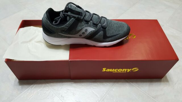 Saucony Grid 9000 Black Grey Men 12 Lifestyle Sneakers Running Shoes S40014 1