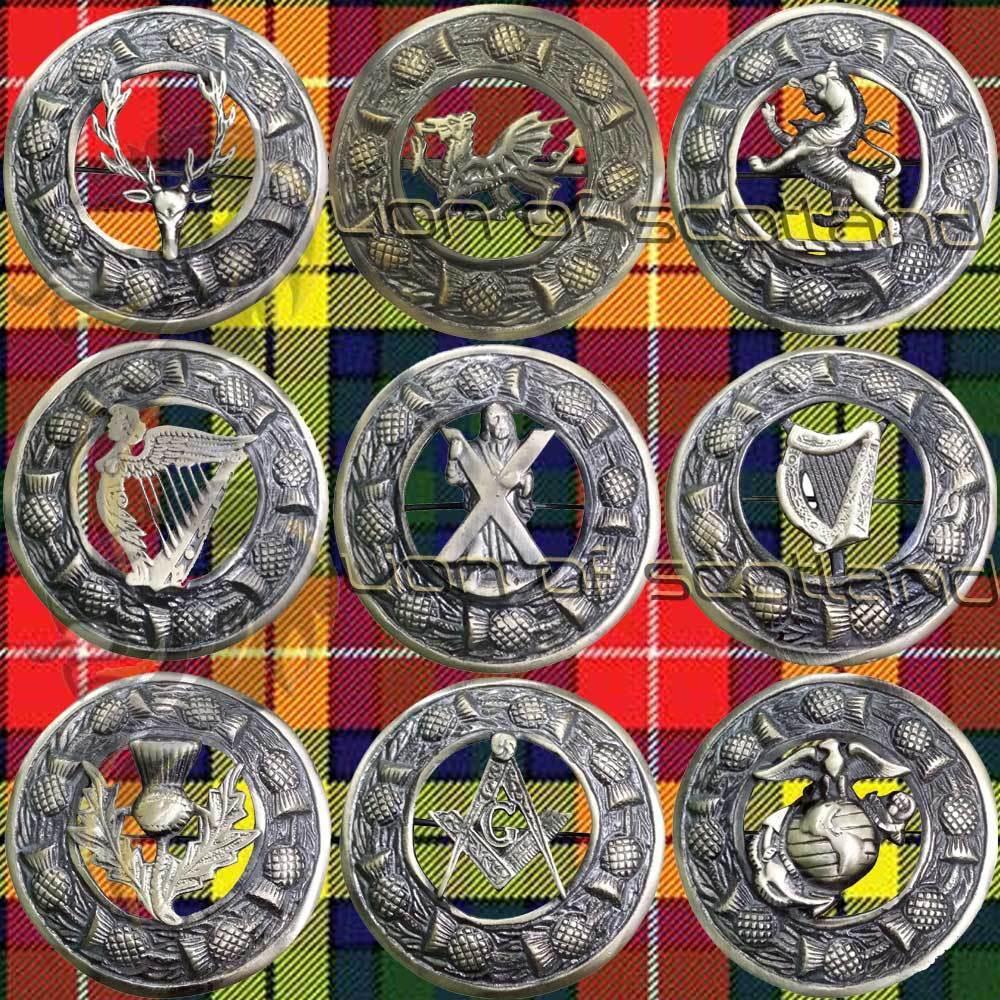 Scottish Kilt Fly Plaid Brooch Various Antique/Highland Pin Brooches Celtic 3