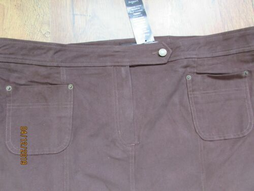 NWT BROWN TUMMY CONTROL CANVAS PENCIL SKIRT PLUS SIZE 28 SIMPLY BE