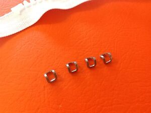 ZIPPER TOP STOPS STAINLESS x 4 to make custom length NO 10 ZIPS inc POSTAGE