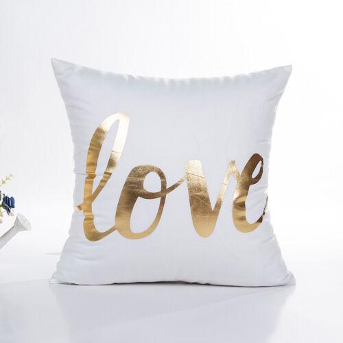 Feuille D/'Or Imprimé Polyester Pillow Case Sofa Throw Cushion Cover Home Decor