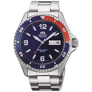 Orologio-Orient-da-Uomo-Automatico-Mako-In-Acciaio-Argento-Analogico-Watch-Polso