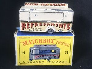 Matchbox-Lesney-74-A4-Mobile-Refreshment-Canteen-HTF-Cream-amp-D2-Box