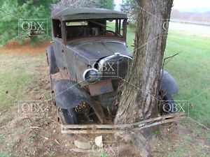 Pic-2-8x10-Photo-A-1929-Ford-Sedan-parked-forever-on-this-spot-Tree-locked