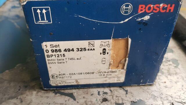 Bosch pattini freno bmw 986 494 325