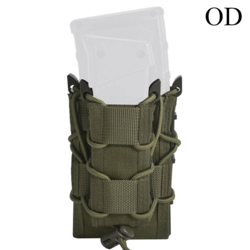 Bolsa revista Táctico Doble 1000D Nylon AIRSOFT MOLLE RIFLE MAG Funda bolsas