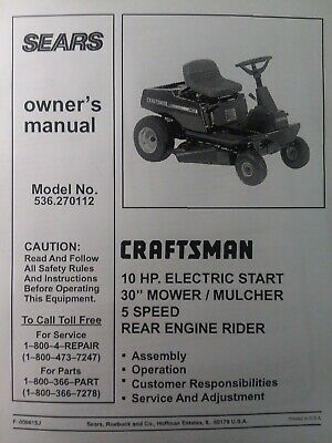 Sears Craftsman Riding Lawn Mower Tractor 10 hp 30