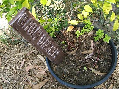 GROW DAMMIT MARKER SIGN MOULD MOLD CONCRETE GARDEN ORNAMENT PLANTS FLOWER