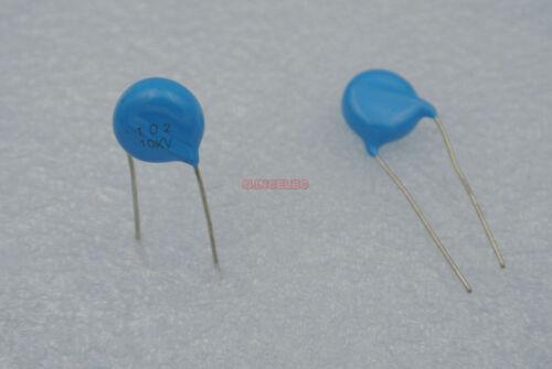 20pcs High Voltage Ceramic Disc Capacitors 102 1nF 10KV 10000V