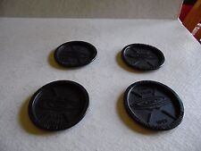 4 Vtg Plastic Coasters 1968 First Year Whirlpool Corporation Findlay Division