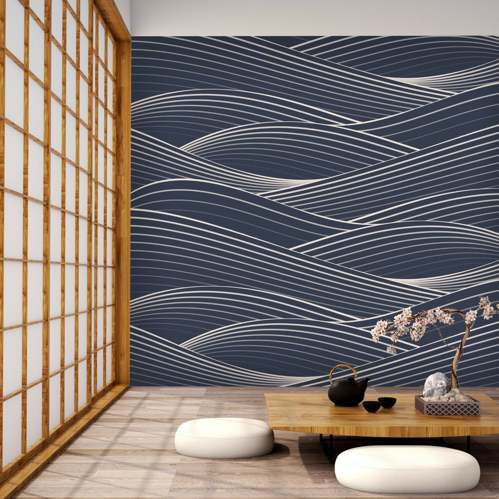3D Waves Line 7170 Wall Paper Print Wall Decal Decal Decal Deco Indoor Wall Murals US Summer 5292b7
