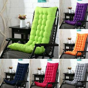 Garden Rocking Deck Chair High Back Chair Outdoor Sun Seat Pads Recliner Cushion