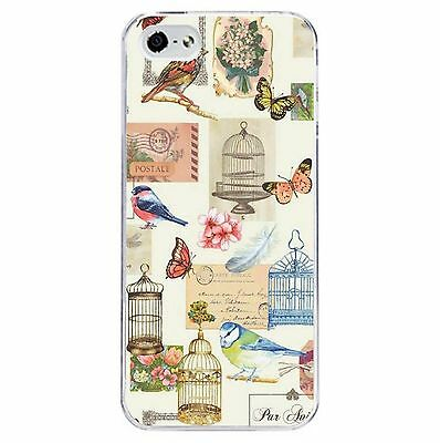 Vintage Bird Cage PHONE CASE HARD COVER (Fits iPhone 4s 5c 5 5s 6 6+) Chic 2