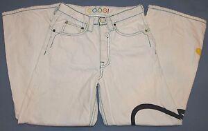CooGi-MUJER-EN-BLANCO-JEANS-SZ-12-bordado-Talle-Medio-AUSTRALIA-Pantalones-Denim