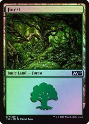 Foil Near Mint Magic 2019 Core Set MTG M19 5x Forest 277//280
