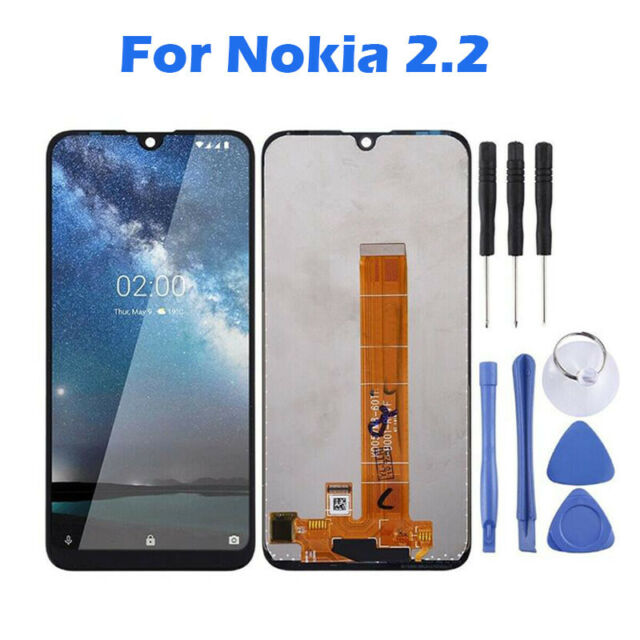 For Nokia 2.2 Black LCD Display Touch Screen Digitizer Assembly Replacement AAA