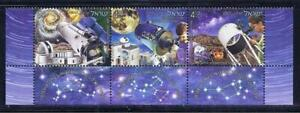 ISRAEL 2021 OBSERVATORIES IN ISRAEL 3 STAMPS SPACE STARS TELESCOPE MOON MNH