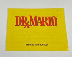Dr. Mario NES Nintendo Instruction Manual Booklet NES-VU-USA⭐️ Black Star Code!