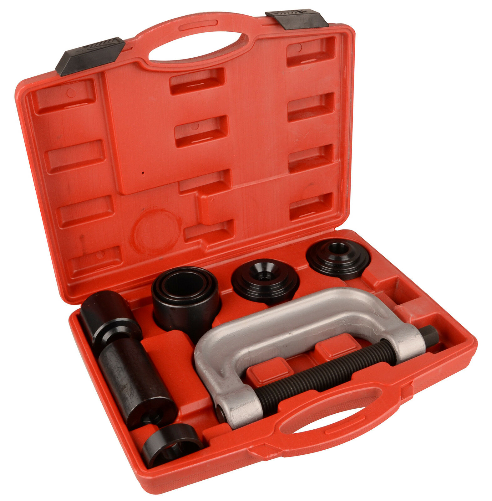 Red case with manual press parts