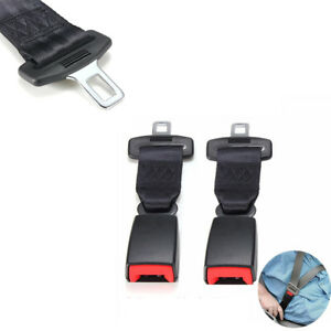 2-Pcs-Universal-23cm-9-039-039-Car-Seat-Belt-Extenders-Buckle-2-1cm-Safety-Belt-Black