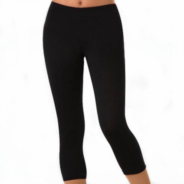 Adidas Women S Climalite Crop Leggings Ad4001 Black Size S For Sale Ebay