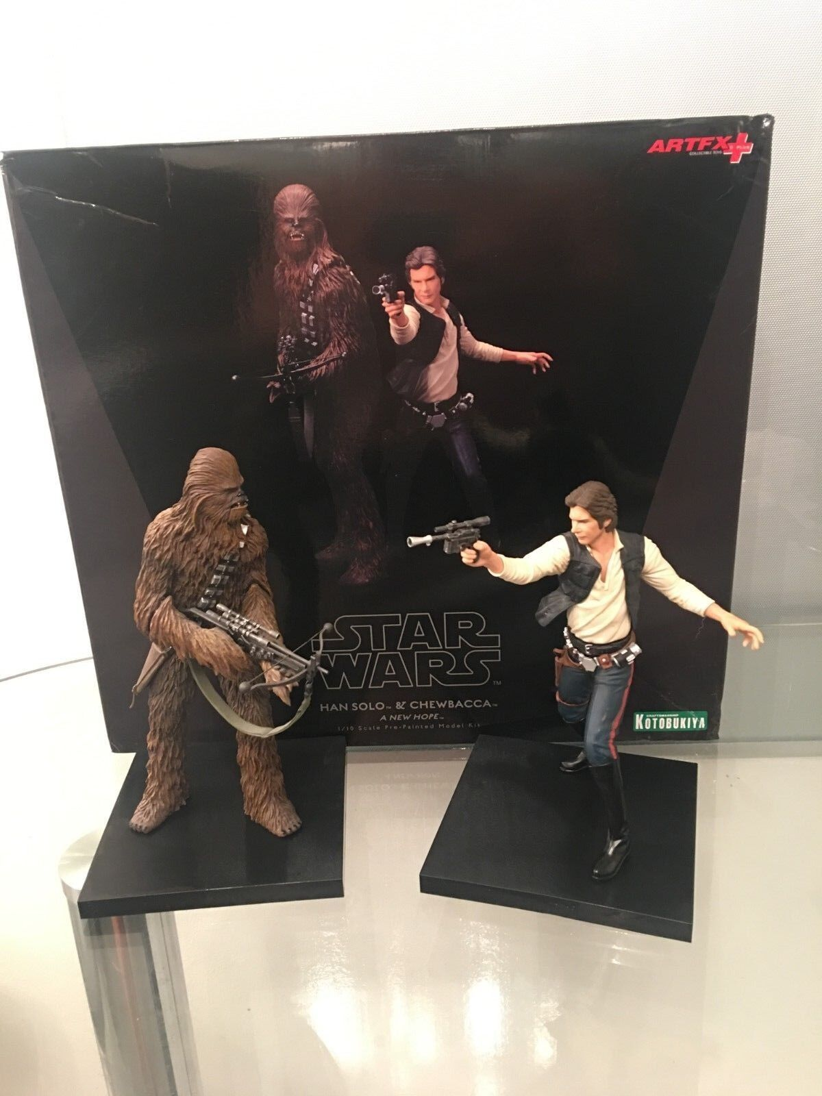 Estrella Wars Han Solo & Chewbacca - A New Hope 2 Pack Kotobukiya ArtFX Collectibles