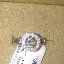 Rhodium Over Sterling Silver Beautiful Dancing  Rhythm Cz In  Motion Ring