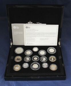 2013-Silver-Proof-15-coin-Set-in-Case-with-COA-amp-Outer-Box-K4-56