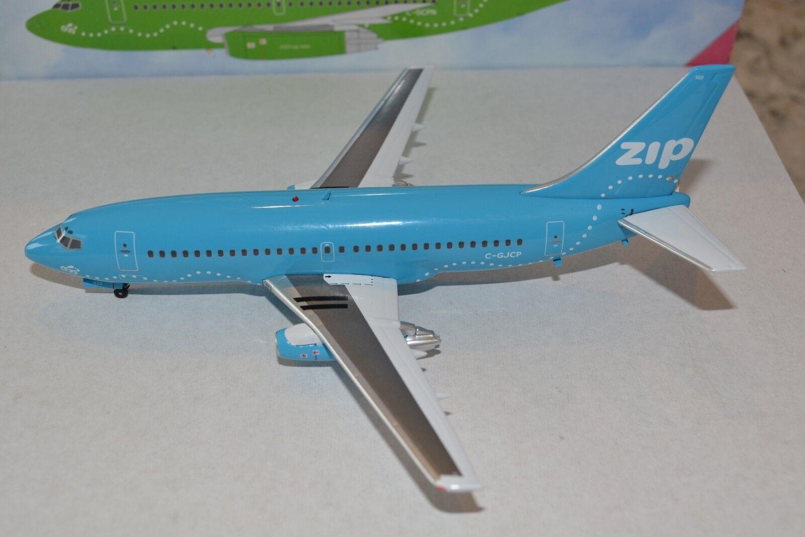 Inflight 200 IF732048 1 200 ZIP Airlines Boeing 737-200  Blau  Jellybean, NIB