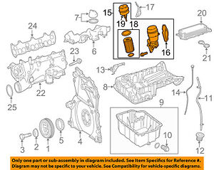 mercedes oem 10 17 sprinter 3500 3 0l v6 engine filter housing L6 Engine Diagram image is loading mercedes oem 10 17 sprinter 3500 3 0l