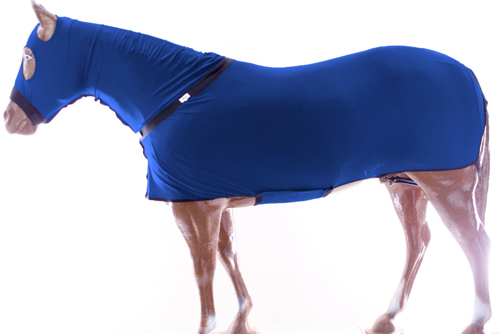 Horse Full All Body Zippered Lycra  Slinky Stretch Fabric Suit Navy X-Large  cost-effective