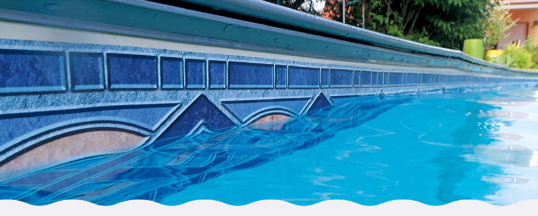 Poolrand-Bordüre Poolrandbordüre Poolbordüre Randbordüre ADORNO 5m Rolle Bordüre