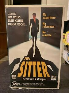 The-Sitter-VHS-Ex-rental-VHS-video-tape-cassette-HTF-Rare-Retro-collectable