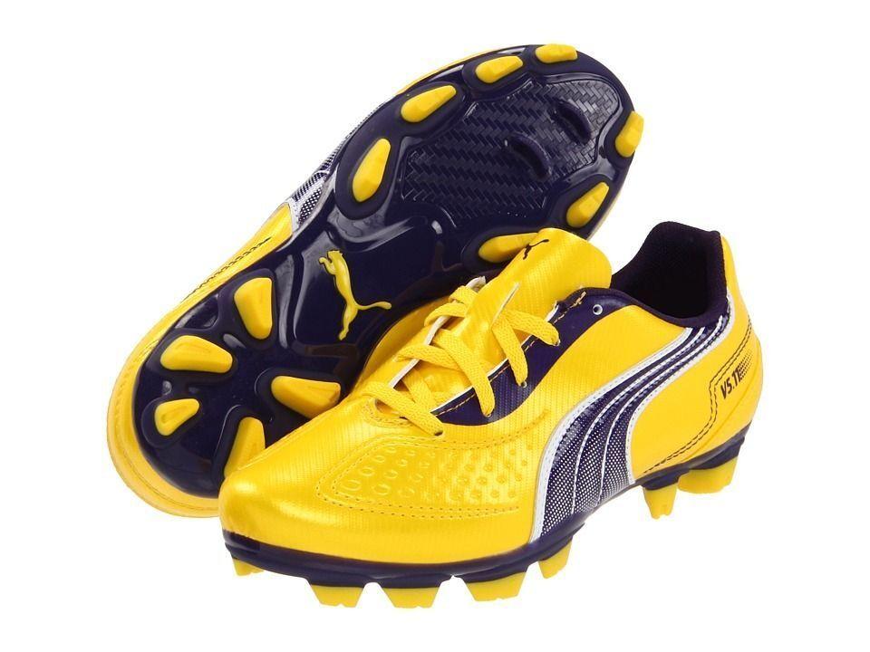 Puma v5.11 I FG Soccer Chaussures Jaune -  Violet  Brand New