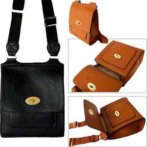 the cheapest arriving order online Details about Black Twist Turn Lock Faux Leather Cross Body Messenger  Shoulder Bag Designer UK