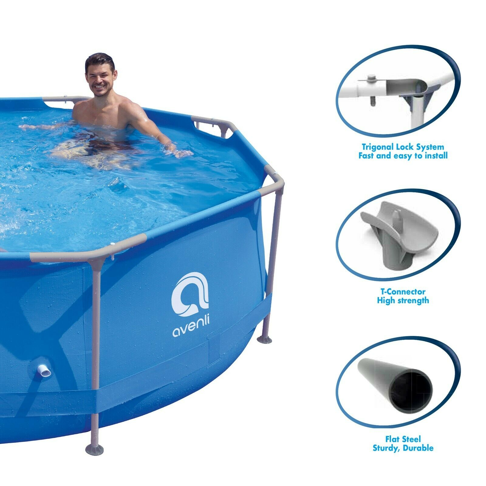 Round Super Steel Family Pool / Heavy Duty / Easy to Install / Anti-Corrosion