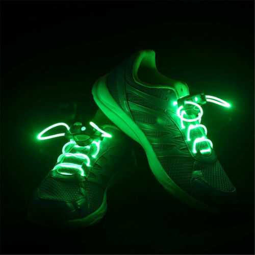 LED Shoelaces Light Up Shoe Laces Flash Glow Stick Strap Rave Disco KTV Party