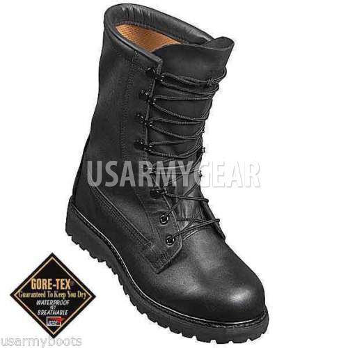 US Army Military Police Waterproof Cold Wet Weather nero Leather Combat stivali