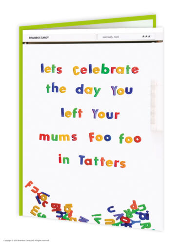 Brainbox Candy rude offensive birthday greeting cards funny cheeky joke humour