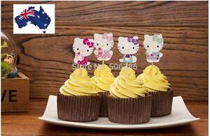 12-x-HELLO-KITTY-Fun-CUPCAKE-CAKE-TOPPERS-Party-decoration-children-birthday