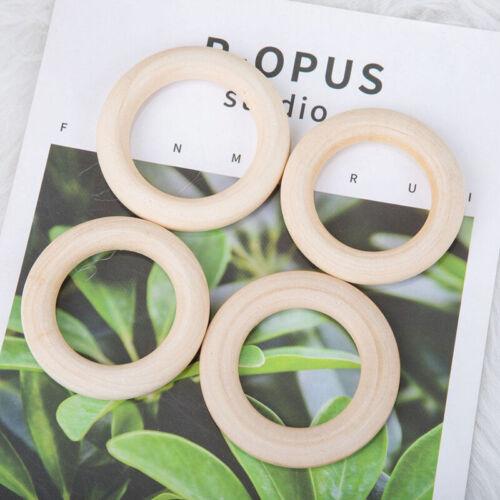 10er Set Baby Holzringe Ring Beißringe Zahnen Ringe Kinderpflege Spielzeug