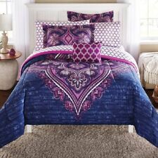Purple 8 Piece Full Size Comforter Set With Sheets Bedding Decor Bedspread