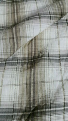CHECKED POLYCOTTON SHIRT FABRIC-2 COLOURS-SOLD BY THE METER
