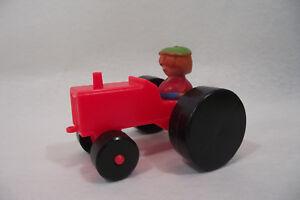 Ancien-petit-TRACTEUR-jouet-VINTAGE-70-039-s-FISHER-PRICE-paysan-ferme-agricole