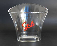Stoli Stolichnaya Russian Vodka Clear Plastic Oval Shape Ice Cooler Bucket NEW